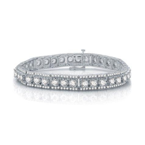 10.0 CT. T.W. Diamond Bracelet in 14K White Gold (I-I1)