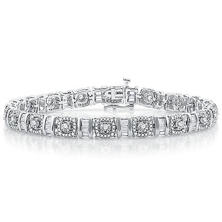 3.00 CT. T.W. Diamond Bracelet in 14K White Gold