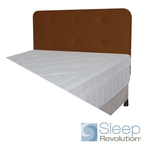 Chocolate Faux Suede Padded Headboard - Twin