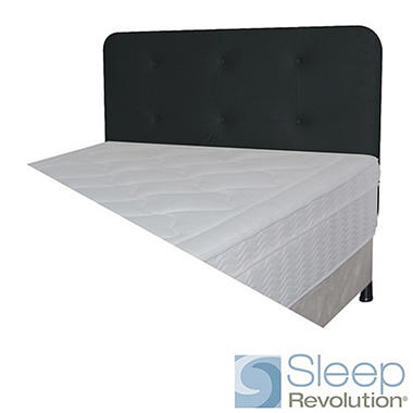 Black Faux Suede Padded Headboard - Full