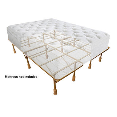 smart base steel bed frame queenking