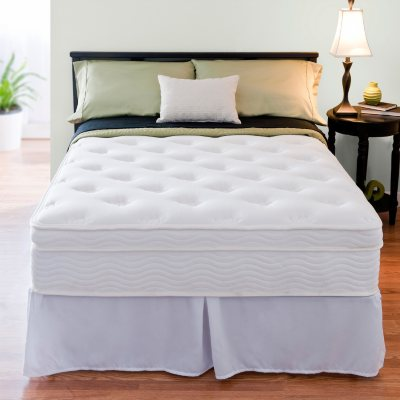 Night Therapy iCoil 13 Deluxe Euro Boxtop Spring Queen Mattress