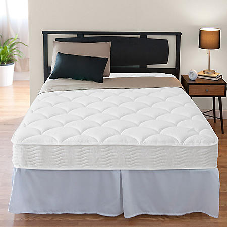"""Zinus Night Therapy iCoil 8"""" Spring Full Mattress and SmartBase Bed Frame Set"""