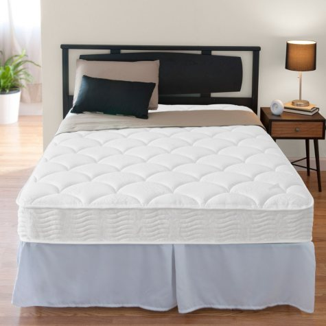 """Night Therapy iCoil 8"""" Spring Mattress and SmartBase Bed Frame Set, Full"""