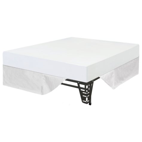 """Night Therapy 8"""" Memory Foam Mattress and Bed Frame Set - Queen - 6 pk"""