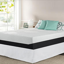 "Night Therapy 13"" Pressure Relief Memory Foam Queen Mattress and Bed Frame Set"