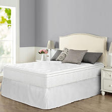 "Night Therapy iCoil 12"" Euro Box Top Spring Mattress and SmartBase Bed Frame Set, King"