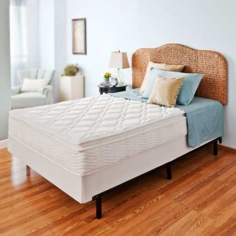 """Night Therapy iCoil 10"""" Pillowtop Spring Mattress and Bi-Fold Box Spring Set, Queen"""