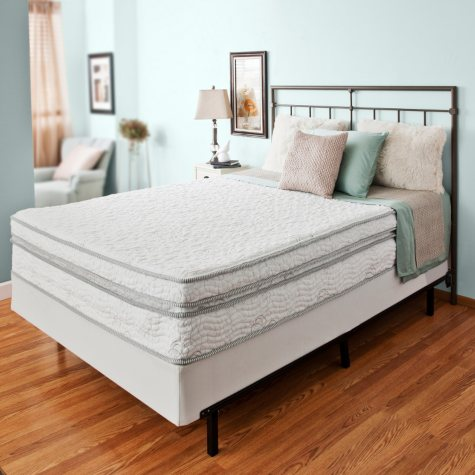 "Night Therapy Elite 13"" MyGel Memory Foam Extra Plush Box Top Spring Mattress & Bi-Fold Box Spring - King"