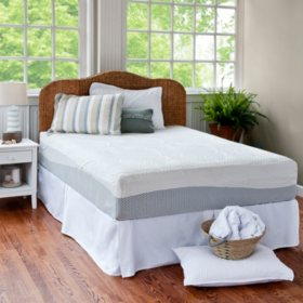 """Night Therapy 12"""" Pressure Relief Memory Foam Queen Mattress and Bed Frame Set"""