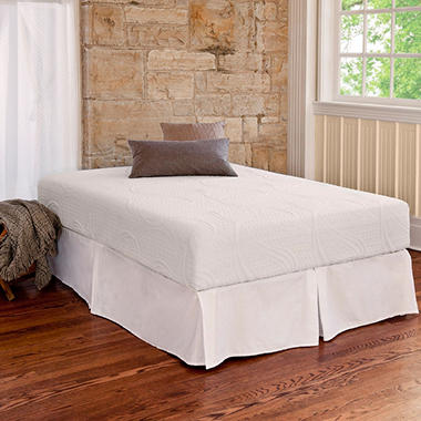 Night Therapy Memory Foam 8 Inch Pressure Relief Twin Xl Mattress Bed Frame Set