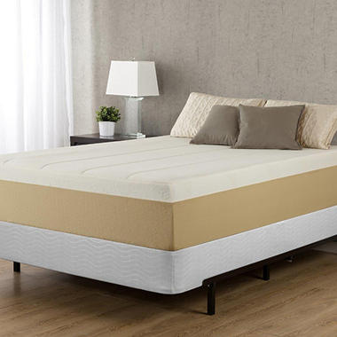 night therapy memory foam 14 inch pressure relief mattress u0026 bifold box spring