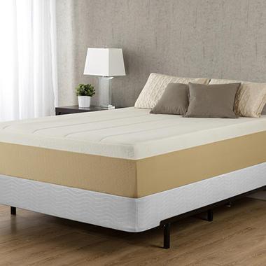 mattress in a box sam s club. Night Therapy Memory Foam 14 Inch Pressure Relief Queen Mattress \u0026 Bi-Fold Box Spring In A Sam S Club