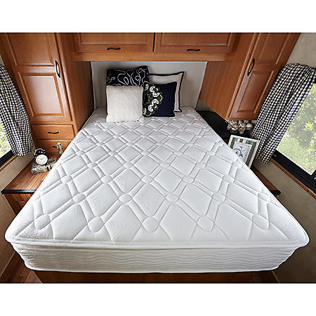 """Zinus Night Therapy 10"""" Pillowtop iCoil Spring RV Short Queen Mattress"""