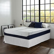 "Night Therapy Gel Infused Memory Foam 12"" Elite King Mattress & Bed Frame Set"