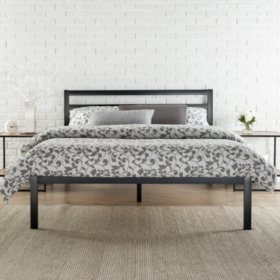 Modern Studio Platform 1500H Bed Frame With Headboard Various Sizes