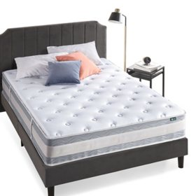 "Night Therapy Spring 12"" Fusion Gel Memory Foam Hybrid Queen Mattress"