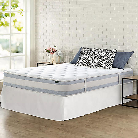 "Zinus Night Therapy Set Spring 10"" Fusion Gel Memory Foam Hybrid Full Mattress and SmartBase Bed Frame"