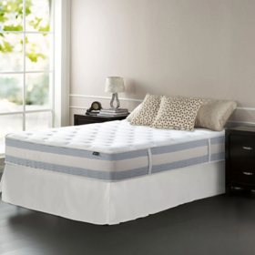 "Night Therapy Set Spring 12"" Fusion Gel Memory Foam Hybrid Full Mattress and SmartBase Bed Frame"