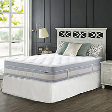 "Night Therapy Set Spring 14"" Fusion Gel Memory Foam Hybrid Queen Mattress and SmartBase Bed Frame"