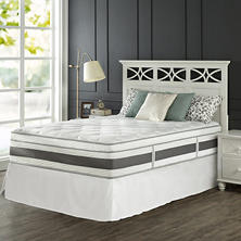 "Night Therapy Set Spring 14"" Fusion Gel Memory Foam Hybrid King Mattress and SmartBase Bed Frame"