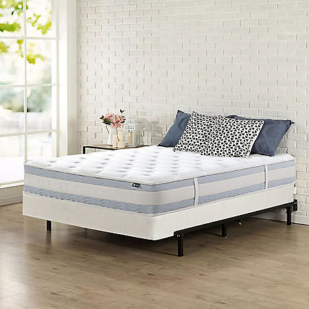 """Zinus Night Therapy Set Spring 10"""" Fusion Gel Memory Foam Hybrid Queen Mattress and BiFold Box Spring"""