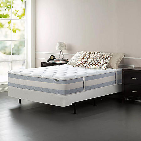"Zinus Night Therapy Set Spring 12"" Fusion Gel Memory Foam Hybrid Queen Mattress and BiFold Box Spring"
