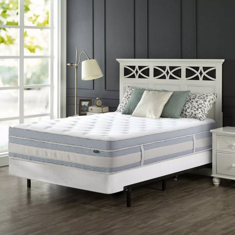"""Zinus Night Therapy Set Spring 14"""" Fusion Gel Memory Foam Hybrid Queen Mattress and BiFold Box Spring"""