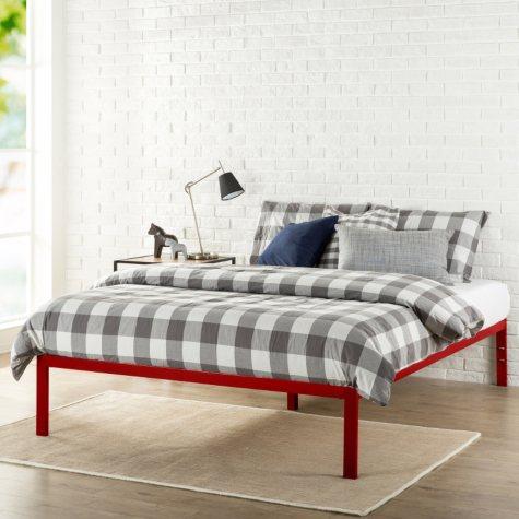 Modern Studio Platform 1500 Bed Frame, Red (Assorted Sizes)