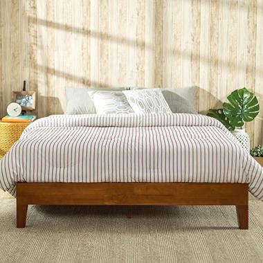 Night Therapy Deluxe Solid Wood Platform Bed (Assorted Sizes)