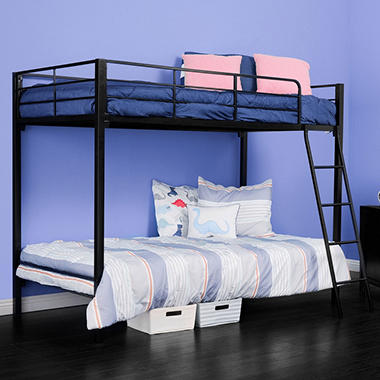 Night Therapy Quick Lock Twin Over Twin Metal Bunk Bed