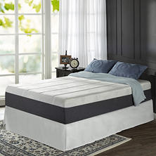 "Night Therapy Positive Sleep 13.5"" ADAPTIVE Memory Foam King Mattress and SmartBase Bed Frame Set"