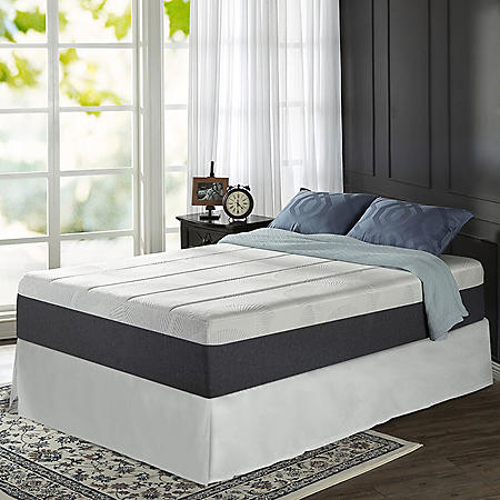 "Zinus Night Therapy 13.5"" ADAPTIVE Memory Foam California King Mattress and SmartBase Bed Frame Set"