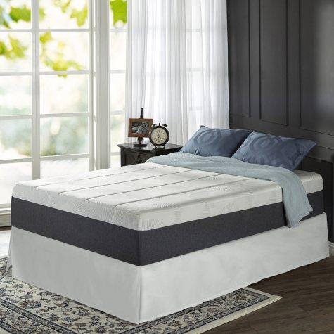 "Zinus Night Therapy 13.5"" ADAPTIVE Memory Foam California King Mattress and SmartBase Bed Frame Set"