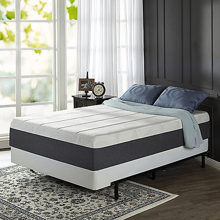 """Zinus Night Therapy 13.5"""" ADAPTIVE Memory Foam King Mattress and BiFold Box Spring Set"""