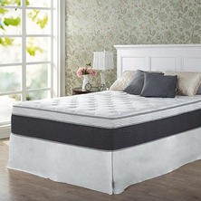 "Night Therapy Positive Sleep 13.5"" ADAPTIVE Euro Boxtop Spring California King Mattress and SmartBase Platform Bed Frame Set"