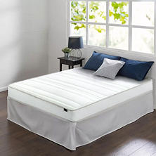 "Night Therapy 8"" Comfort Coil Spring Full Mattress and Smartbase Set"