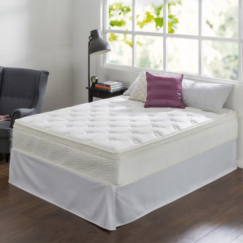 "Night Therapy 12"" Comfort Coil Spring Twin Mattress and Smartbase Set"