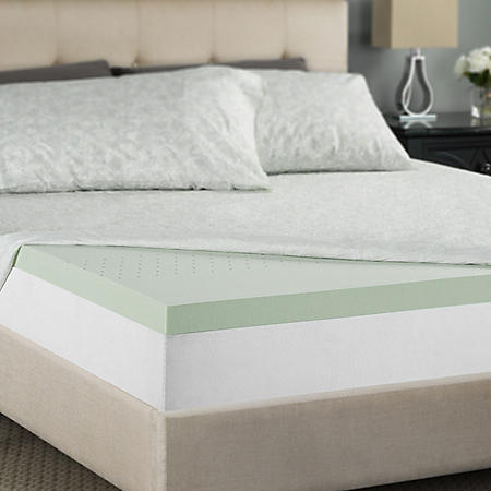 "Zinus Night Therapy 2"" Pressure Relief Memory Foam California King Mattress Topper"