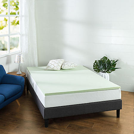 "Zinus Night Therapy 1.5"" Green Tea Memory Foam Full Mattress Topper"