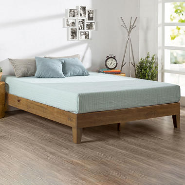 Night Therapy Rustic Oak Deluxe Solid Wood Platform Bed Assorted