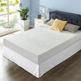 "Zinus Night Therapy Gel Infused Memory Foam 8"" Elite Queen Mattress and SmartBase Set"