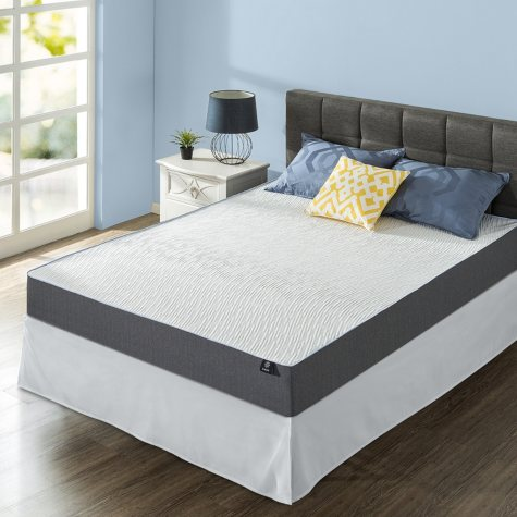 "Night Therapy Gel-Infused Memory Foam 10"" Elite Full Mattress & Smartbase Set"