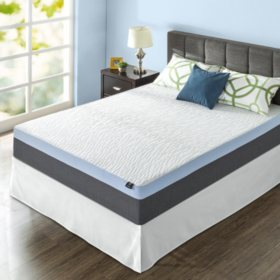 "Zinus Night Therapy Gel-Infused Memory Foam 13"" Elite King Mattress & Bed Frame Set"