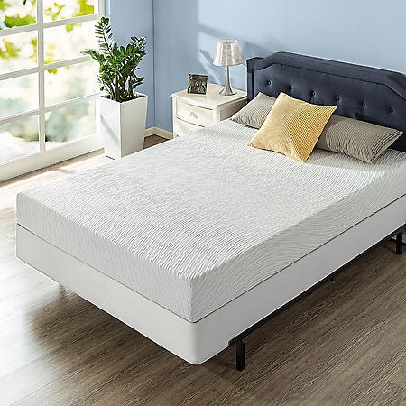 "Zinus Night Therapy Gel Infused Memory Foam 8"" Elite Queen Mattress and BiFold Box Spring Set"