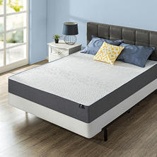 Night Therapy Gel Infused Memory Foam 10 Inch Elite Queen Mattress & BiFold Box Spring Set