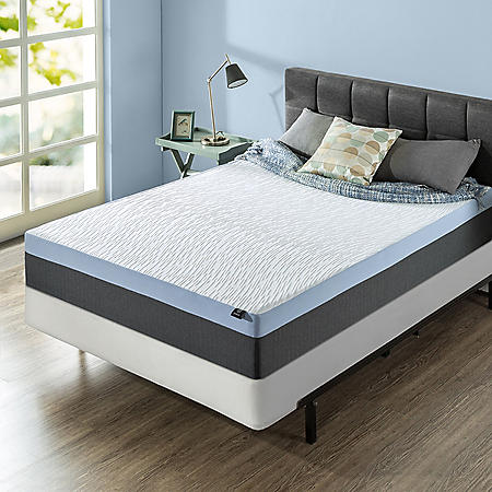 "Zinus Night Therapy Gel-Infused Memory Foam 12"" Elite Queen Mattress & BiFold Box Spring Set"