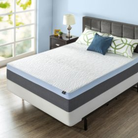 "Zinus Night Therapy Gel-Infused Memory Foam 13"" Elite Queen Mattress & BiFold Box Spring Set"