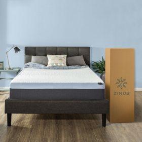 Zinus Night Therapy Gel Infused Memory Foam 13 Elite Queen Mattress Bifold Box Spring Set
