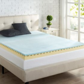 "Night Therapy 4"" Gel Swirl Memory Foam Mattress Topper"